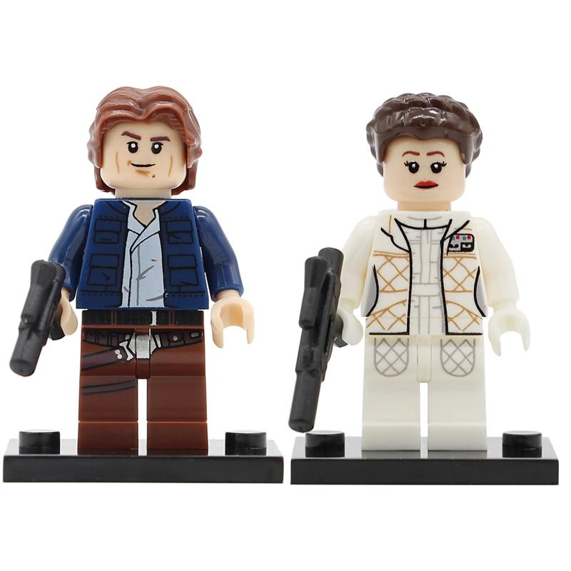 Single Sale Princess Leia Organa Han Solo Figure Building Blocks Slave Leia Han Solo Models Toys Legoing