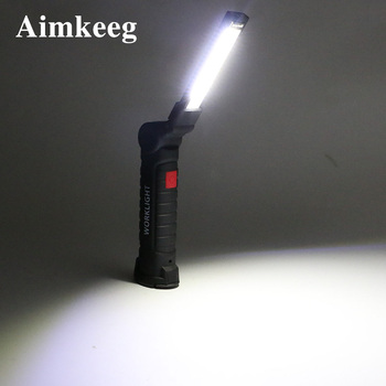 COB Flashlight LED Portable Light 5 Mode Oudoor Lighting Emergency Lamp  USB Rechargeable Work Lights