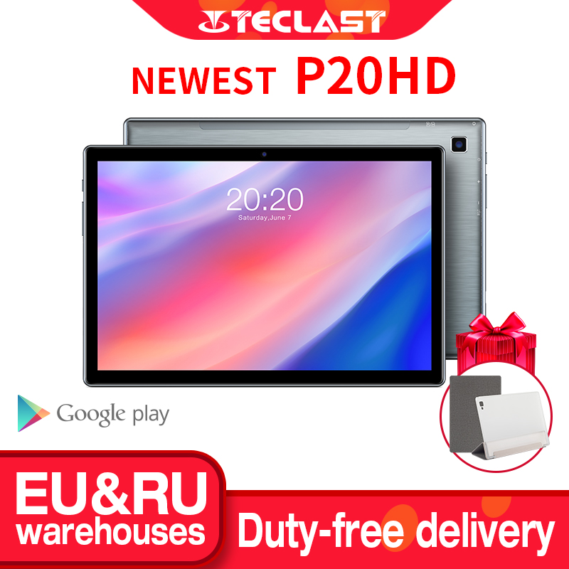 Teclast P20HD Tablet 10.1 inch IPS Android 10 Tablette 1920x1200 4GB RAM 64GB ROM Tablets PC SC9863A Octa Core 4G LTE Tabletas 1