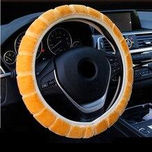 Couverture de volant de voiture en peluche, accessoire universel pour automobile, doux et épais