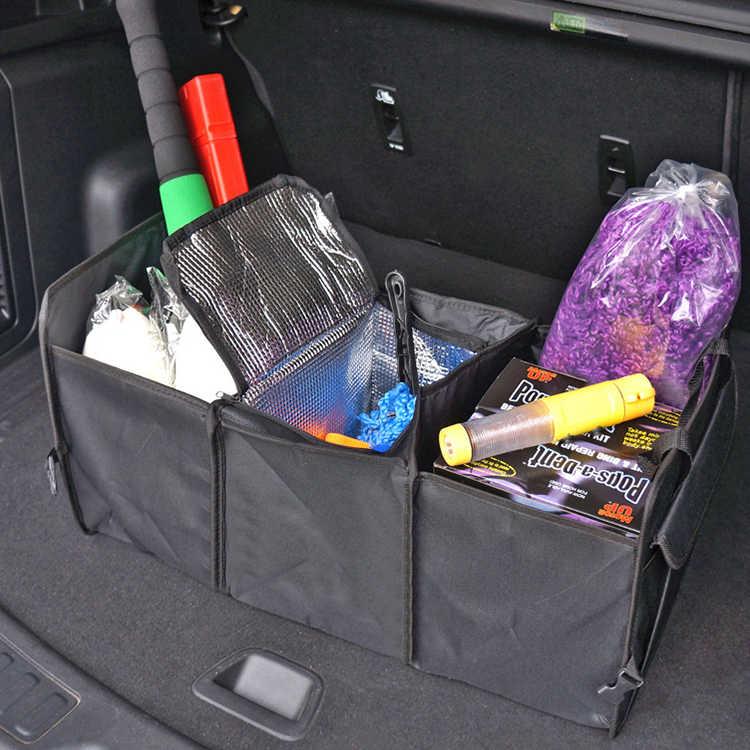 Универсальный органайзер для автомобиля багажник Складные Игрушки для хранения еды грузовик грузовые сумки контейнеры коробка черный автомобиль укладка Tidying Новый