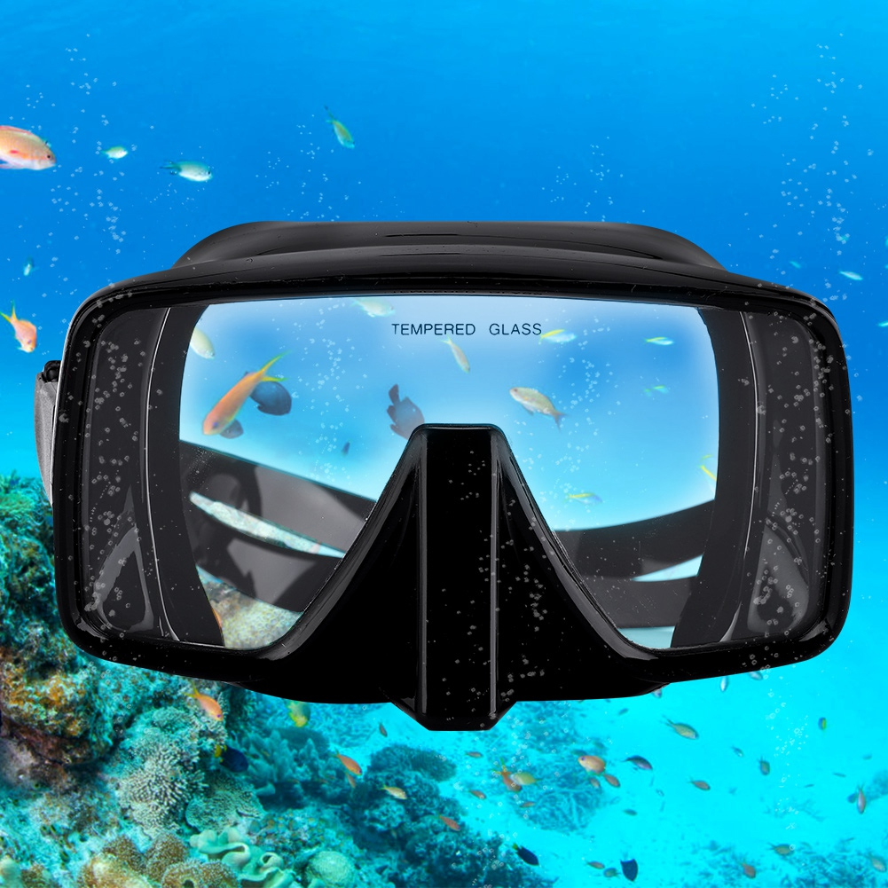 Diving Mirror Full Silicone Deep Diving Mirror Snorkeling Plastic Packaging One-piece Salvage Diving Mask High Penetrability