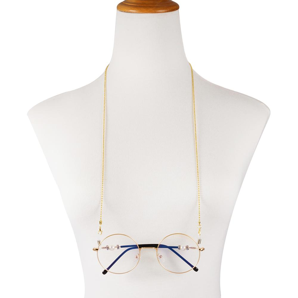 Image 5 - Retail Nice Metal eyeglasses chain eyewear glasses sunglasses cord holder 3 different colors-in Eyewear Accessories from Apparel Accessories