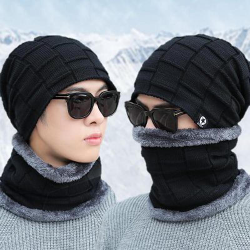 Dockers mens Warm Winter Beanie Hat Scarf Set Winter Accessory Set