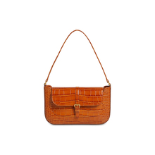Fashion Solid Color Small Women Shoulder Bags Casual Stone Pattern Ladies Handbags Retro High Quality Underarm Bag