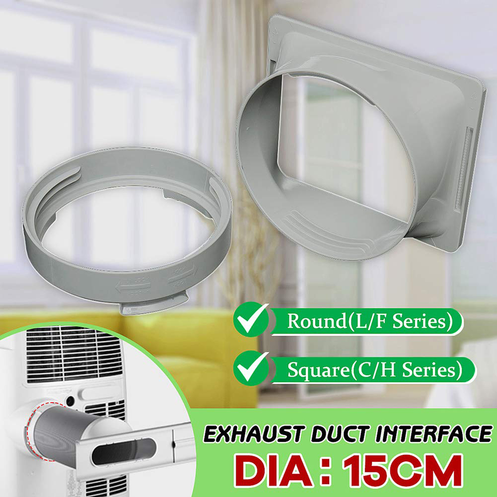 ABS Durable Adapter Portable Hose Connector Accessories White 15cm Practical Exhaust Duct Air Conditioner Interface Part