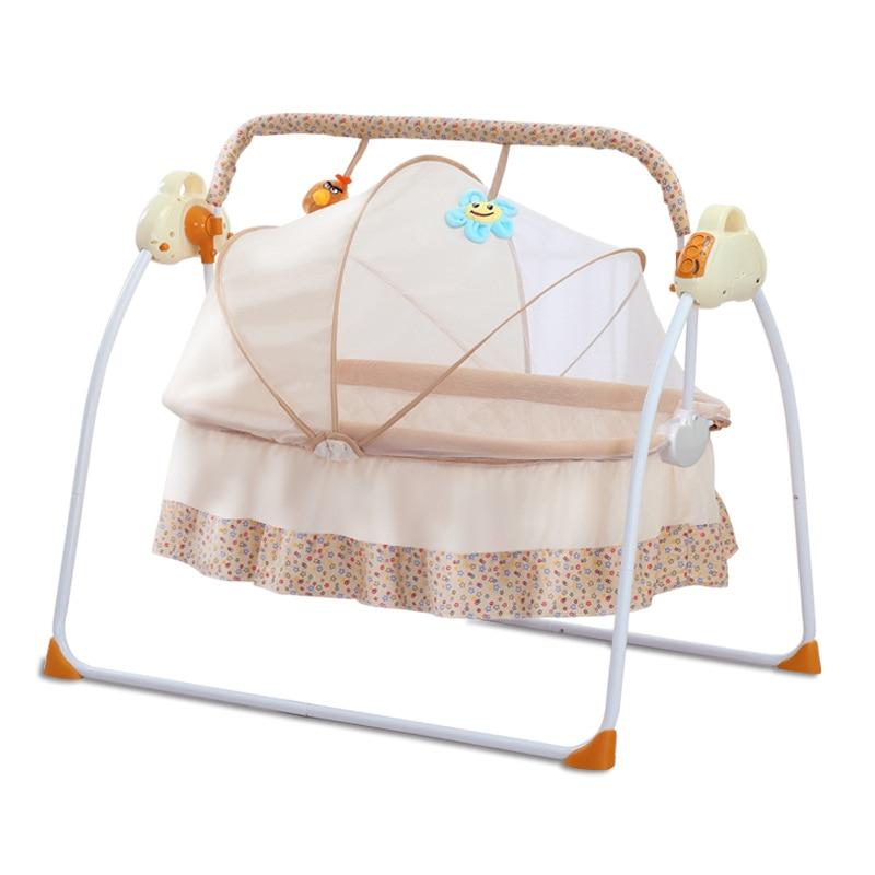 Hdaaa58b753944576b9f5d2197857814bj smart electric Baby cradle baby rocking chair intelligent sleepy newborn cradle baby swing moises para bebe baby rocker culla