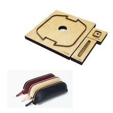 Troqueles de regla de hoja de acero japonés, bolsa con cremallera, estuches de papelería para bolígrafo, portalápices, herramientas artesanales de cuero