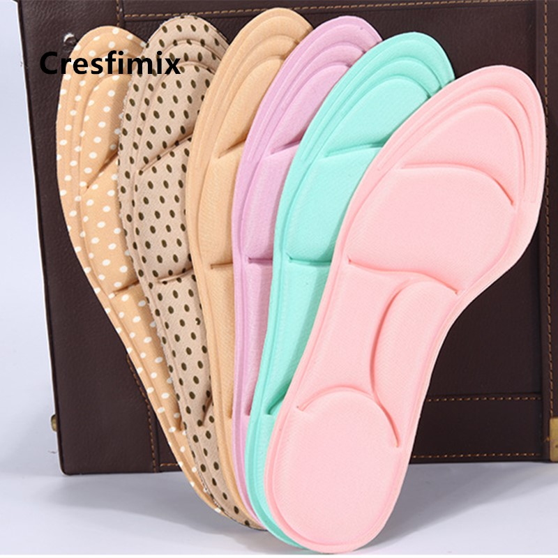Cresfimix Semelle De Chaussures Women Fashion Soft Insert Pads Light Weight Multi Color Shoes Insert Insoles For Ladies A5585