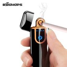 USB Elctronic зарядка Зажигалка сенсорный ветрозащитный Smok сигарета классический Encendedor гравировка буквы и цифровые Настраиваемые