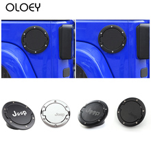 OLOEY Tank Covers for Jeep Wrangler JK 2007-2017 Car oil Cap Fuel Tank Cap Cover for Jeep Wrangler Accessories Car Styling