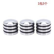 Guitar Bass Dome Control Knobs For 6Mm Split Or Solid Shaft O-Ring Silver Pack Of 3(China)