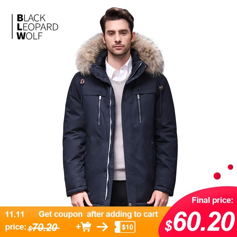 Blackleopardwolf 2019 Winter Jacket Men Fashion Coat Thik Parka Men Alaska Detachable Outwear With Comfortable Cuffs BL-6605M