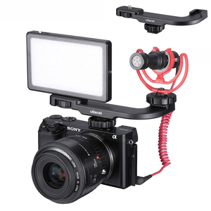 Image 5 - Ulanzi PT 8 PT 9 Gopro Smartphone Vlog צלחת עבור Sony A6400 A6300 קר נעל הר להאריך מיקרופון LED אור מתאם