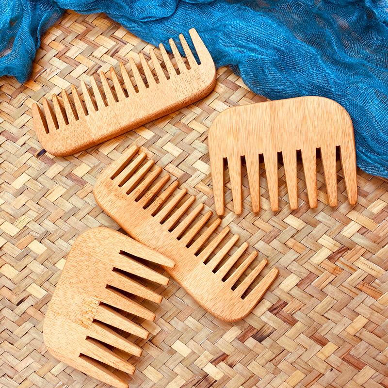 Бамбуковые деревянные расчески для ухода за бородой расческа для ухода квадратная карманная Расческа для усов щетки для бороды