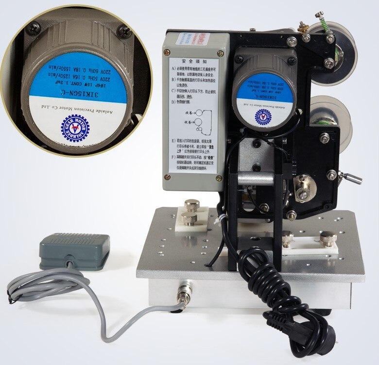 Elektrische Druck Maschine Band Heißer Stanzen Maschine Datum Codierung Maschine