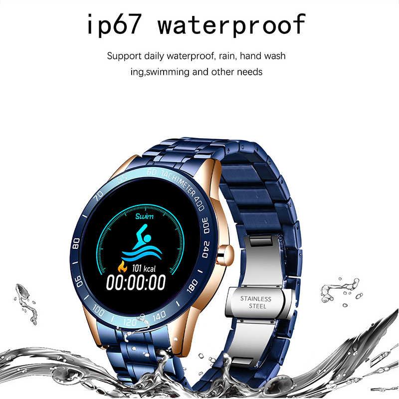 LIGE 2020 Neue Smart Uhr Männer LED Heart Rate Monitor Blutdruck Fitness tracker Sport Uhr wasserdichte Smartwatch + box
