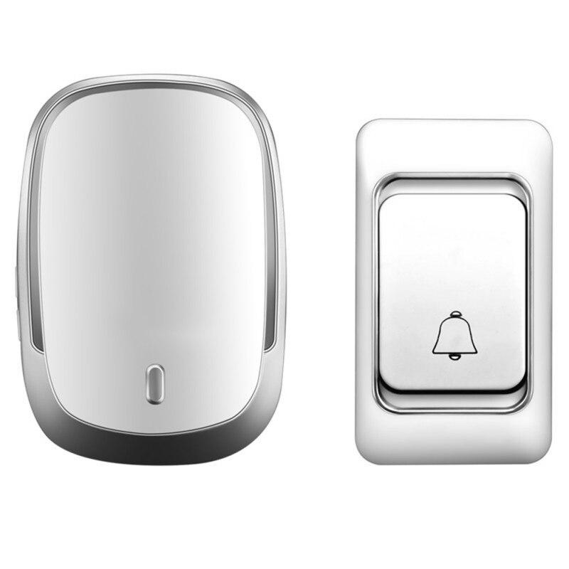 Sonnette sans fil DC bouton de commande de batterie 200M lumière LED à distance pour la maison sans fil appel Bell