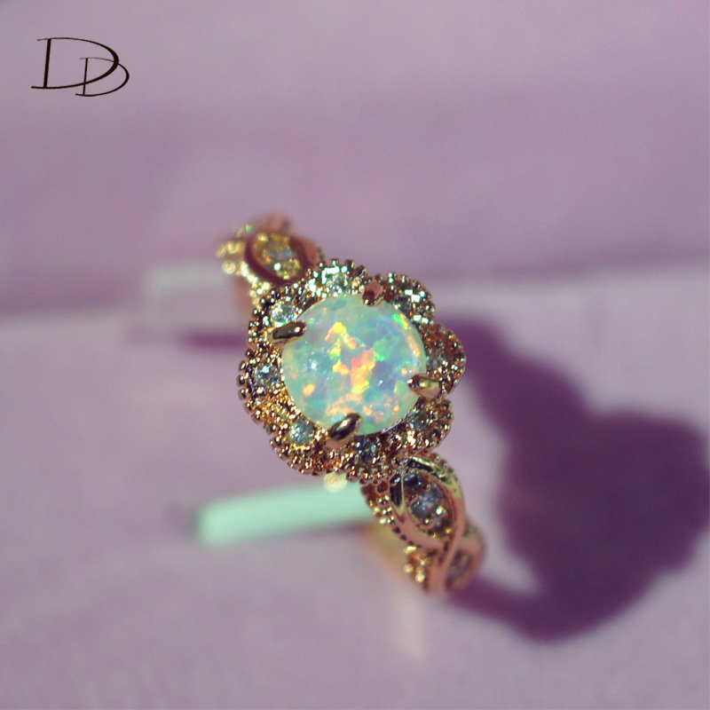 DODO gold color Fire Opal Rings For Women Jewelry Vintage Wedding Engagement Rings Anillos Anillos Drop Shipping DD303 (6)
