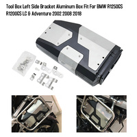 Motorcycle Accessories Tool Box Left Side Bracket Aluminum Box Fit For BMW R1250GS R1200GS LC & Adventure 2002 2008 2018
