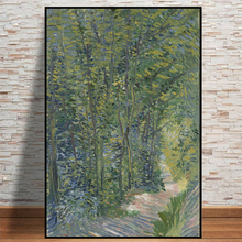 Van Gogh Path in the Woods Oil Painting On Canvas Posters And Prints Cuadros Wall Art Pictures For Living Room van gogh starry night oil painting on canvas posters and prints cuadros wall art decorative pictures for living room home decor