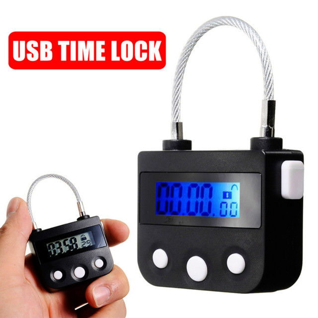 Cardoria USB נטענת זמן מתג נעילת תכליתי זמן מנעול ארון מנעול Candado דה Tiempo אלקטרוני זמן מנעול