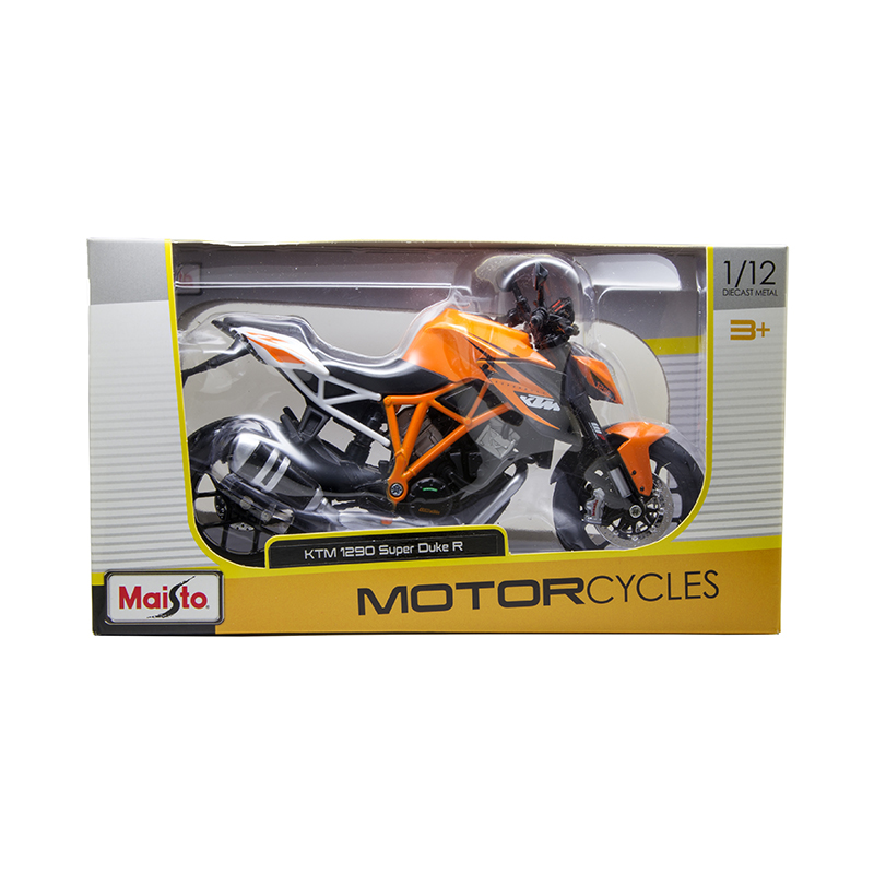 Купить с кэшбэком MAISTO KTM 1290 SUPER DUKE R motorcycle model 1:12 scale Motorcycle Diecast Metal Bike Miniature Race Toy For Gift Collection