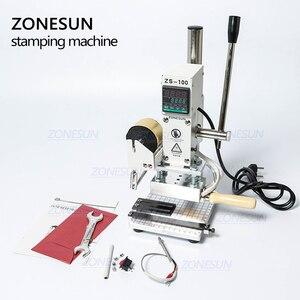 Image 5 - ZONESUN ZS100 instrukcja karta pcv skórzany papier LOGO tłoczenie folią na gorąco brązujący maszyna do wytłaczania dziurkarka ciepła 5x10cm