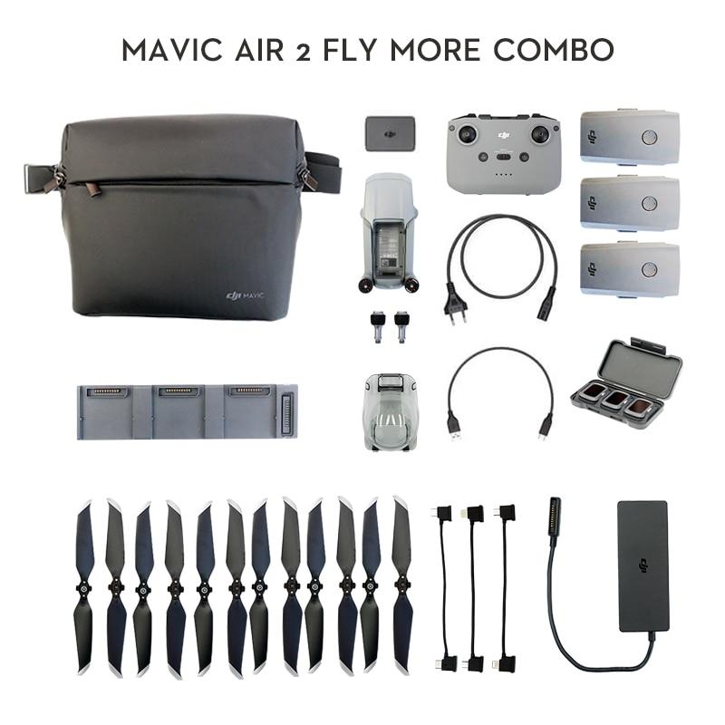 DJI Mavic Air 2 fly more combo / Mavic Air 2 Дрон с 34-минимальным временем полета 4k камера 10 км 1080p видео передача новейшая