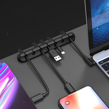 цена на 1-7 Self-adhesive Car Desk Wall USB Wire Cable Line Fastener Clip Clips Holders Organizer Retainer Clamp Clamps Tie Lines Fixed