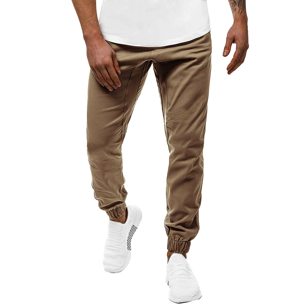 Men Casual Sport Pants Slim Fit Solid Trousers Running Joggers Sweatpants Plus Size Streetwear Pantalones Hombre Sweatpants 6XL
