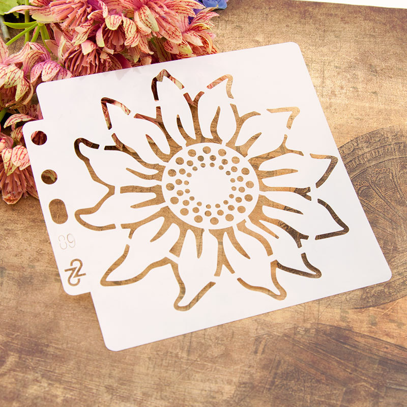 13*14cm Big Sun Flower DIY Layering Stencils Painting Scrapbook Coloring Embossing Album Decorative Card Template
