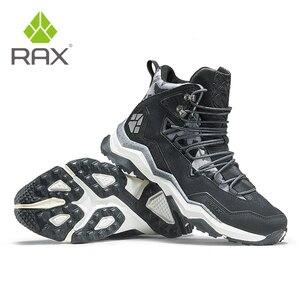 Image 5 - を RAX 男性登山靴の冬の防水屋外スニーカー男性革トレッキングブーツトレイルキャンプクライミングスニーカー革の靴