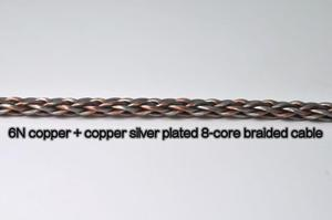 Image 2 - 8 Core Braided Semi finished DIY Headphone Upgrade Wire Copper Silver Hybrid 6N OCC
