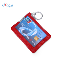 Genuine Leather Wallet Case For Men Women Ultra Thin Slim ID Credit Business Card Holder Large Capacity Zipper Mini Coin Purse