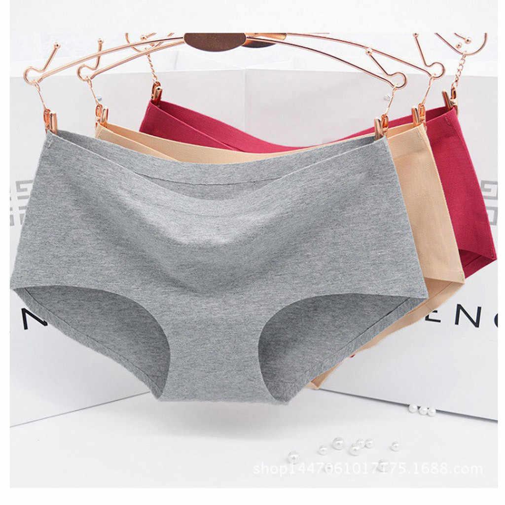 ผู้หญิงกางเกงขาสั้น bragas mujer แฟชั่น One-piece ชุดชั้นในกลางเอว Sexy Lady ชุดชั้นในผ้าฝ้ายผู้หญิงชุดชั้นใน