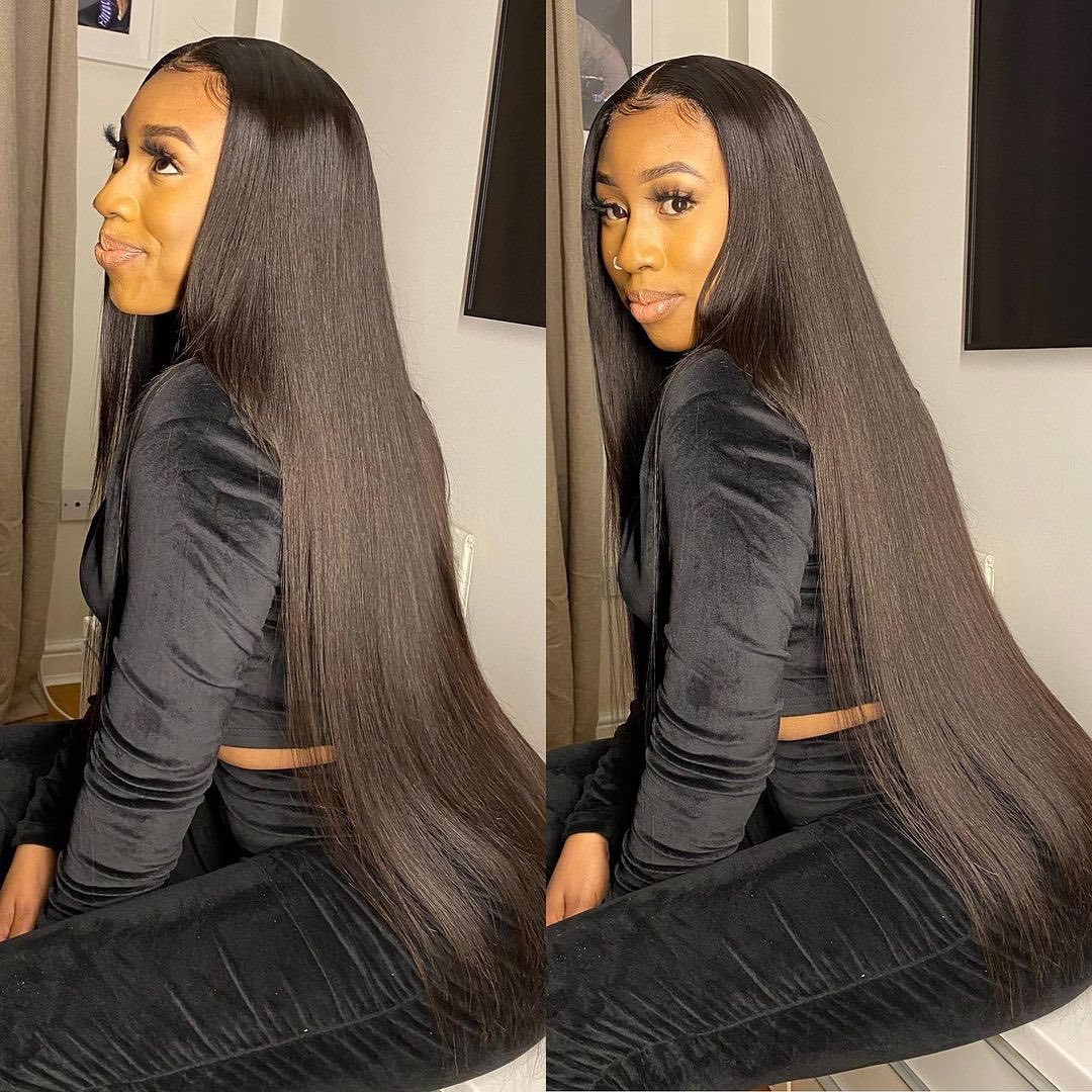 Luvin 28 30 40 Inch  Bone Straight  Bundles Natural Deals Products Raw Virgin Double Drawn Wholesale 2