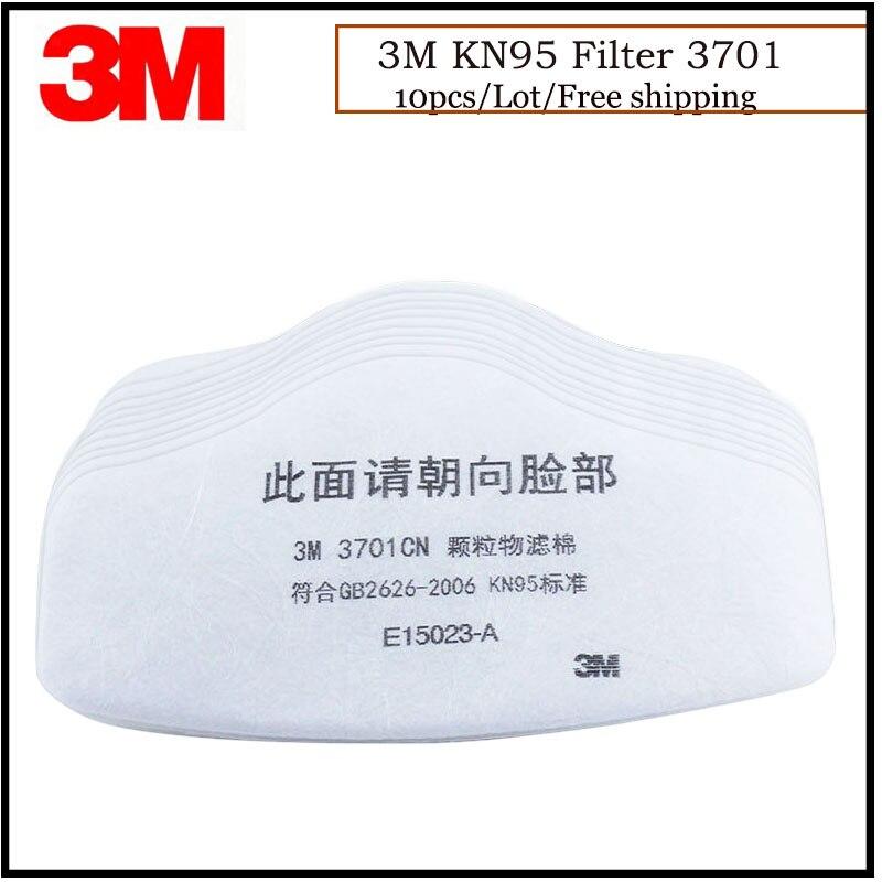 10 unids/lote 3701 de 3M filtro de algodón KN95 estándar Filtro Anti-polvo filtro de algodón usar con 3200 máscara LT078
