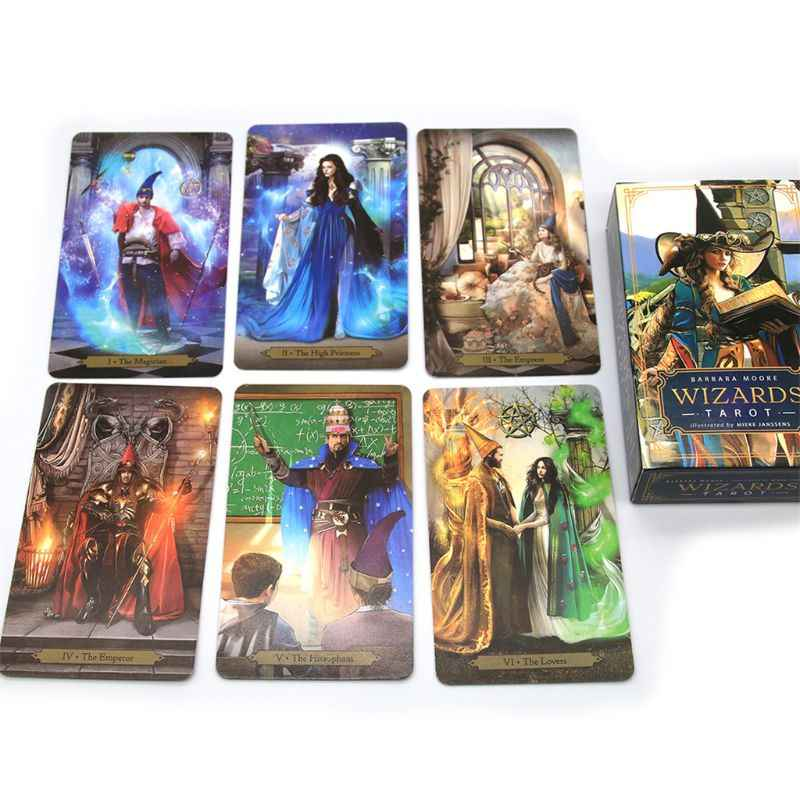 Wizard Tarot 78 Cards Deck Based on Rider Waite Deck Divination Toy Board Game Party Prophet Fortune Telling BT HUGUWEDING Tarot Card