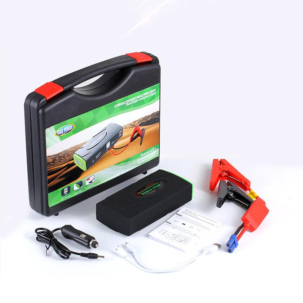 Dual USB Three Lights Car Jump Starter With Safety Hammer Multifunction Emergency Charger Battery Start Device