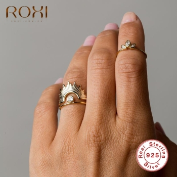 ROXI Vintage Crow Silver 925 Ring for Women Men Wedding Engagement Rings 925 Sterling Silver Finger Rings Bague Femme Jewelry 925 sterling silver lucky cloud rings for women jewelry fashion opening adjustable finger ring lady gift bague femme