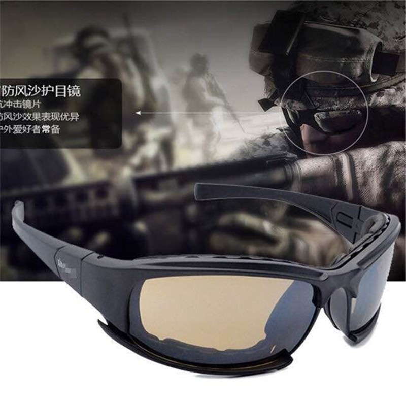 Military Version Of The Polarized Light Daisy X7 Eye-protection Goggles CS Bulletproof Shooting Glasses Outdoor Tactical Goggles