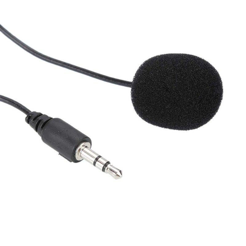 1.5M klip na klapa mikrofonu bezprzewodowy przewodowy skraplacz Mini Lavalier Mic 3.5mm Jack przewodowy mikrofon/mikrofon na telefon PC