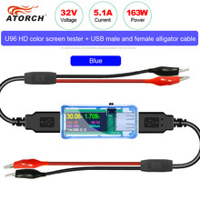 Probador USB 13 en 1, voltímetro digital de CC, amperímetro, medidor de corriente de voltaje, detector, cargador tipo batería externa