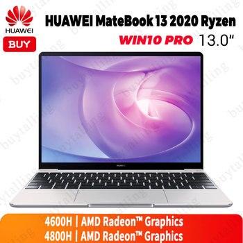 Original HUAWEI MateBook 13 2020 Laptop 13 inch 7nm Process AMD Ryzen R5-4600H/R7-4800H 16GB DDR4 512GB SSD Windows 10 Pro