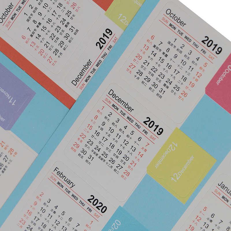 2020 2020 Новая цветная наклейка с календарем из мультфильма Васи украшение для альбома планировщик сделай сам стикер блокнот офисные канцелярские принадлежности