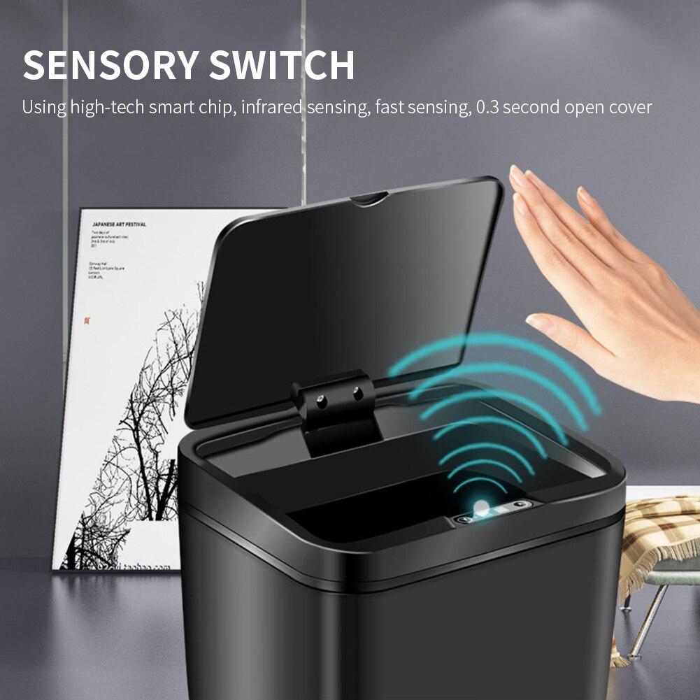 12L Automatic Trash Can Kitchen Wide Opening Sensor Eco friendly Waste Garbage Bin Eco friendly Dustbin Household Trash Bin in Waste Bins from Home Garden