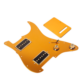 Hricane 3PLY White Loaded Pickguard HH  Electric Scratch Plate for Humbuckers Guitar Pickguard Sets Fender American ST Style