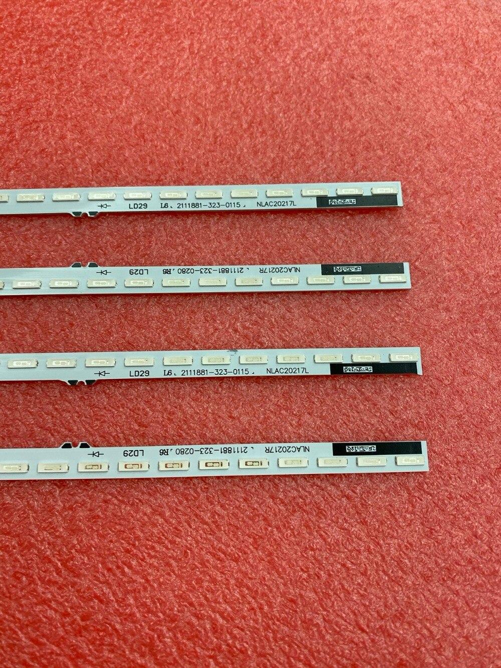 4 pçs set 36LED 340 milímetros tira