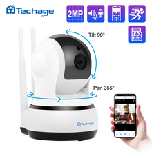 Techage 1080P 2MP Wireless IP Camera Two Way Audio CCTV Security Wifi Camera Baby Monitor Indoor Video Surveillance Dome Camera